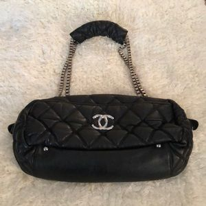 Handbags - Chanel double silver cross body bag